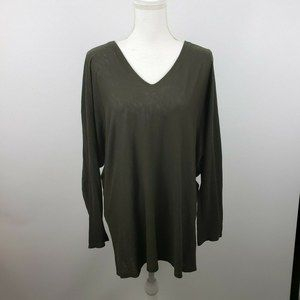 Vince Lg oversized dolman sleeve tunic top slouchy